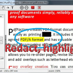 highlight or redact text